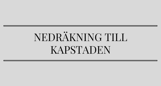 Kapstaden – here I come!