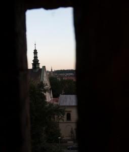 Vy från slottet, Krakow